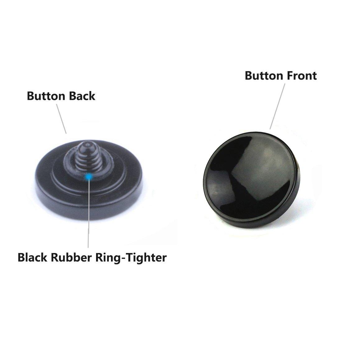 LXH 2 piezas negro Bot/ón t/áctil de metal suave Bot/ón t/áctil para cualquier lanzamiento de rosca est/ándar para Fujifilm X-PRO2 XPRO-1 X100F X100T X100 X100S X10 X20 X30