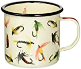 Hook Line & Sinker Flies Enamel Coffee Mug, 18 Ounce