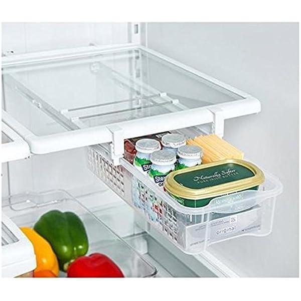 caja de almacenamiento de cocina latas de bebida fresca cerveza nevera estante de almacenamiento de alimentos Organizador de latas de 2 capas
