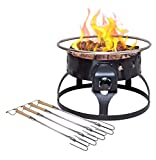 Cheap Camp Chef Redwood Portable Propane Fire Pit with 4 Roasting Sticks, Black
