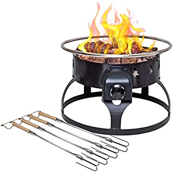 Amazon Com Redwood Portable Propane Fire Pit Sports