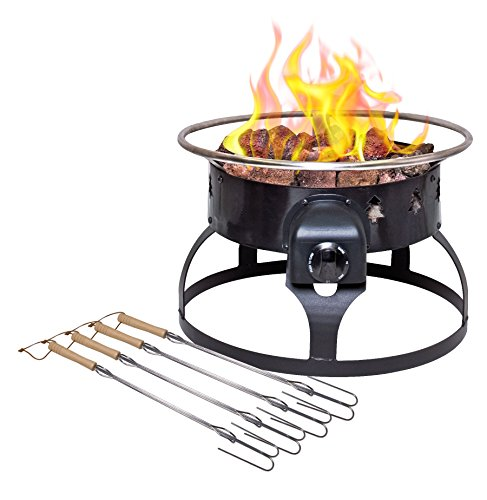Camp Chef Redwood Portable Propane Fire Pit with 4 Roasting Sticks, ()