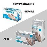 AMMEX Clear Vinyl Medical Gloves, Box of 100, 3