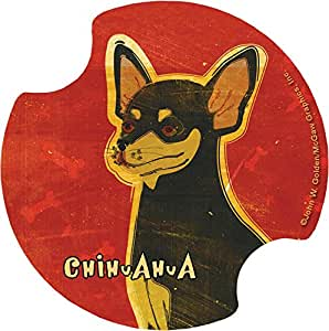 Thirstystone Chihuahua Car Cup Holder Coaster, 2-Pack