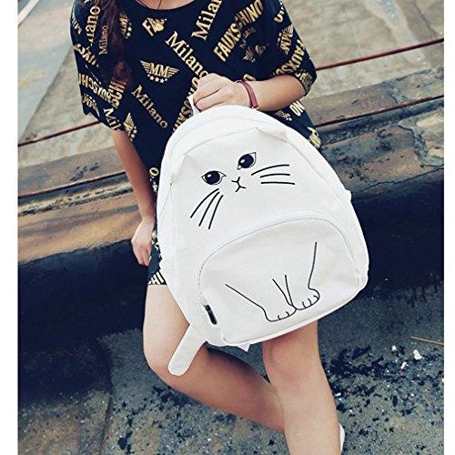 GUAngqi School Bag Shoulder Bag Backpack Girl Women Cute Lovely Cat Printed...