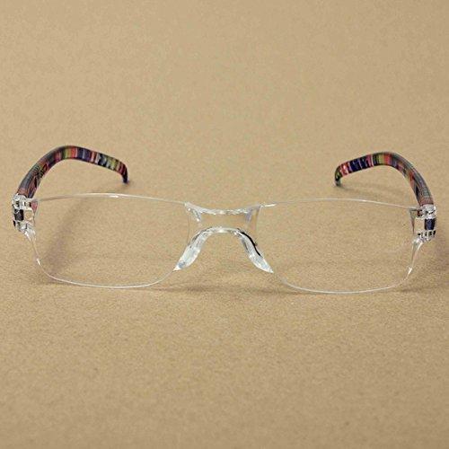 Trendige Lesebrille Nerd Brille Lesehilfe Sehhilfe Randlos +1.0 bis 3.5