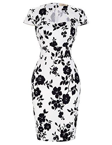 2c42dd8fd27 GRACE KARINWomen Vintage Dress Cap Sleeve BodyCon 50s Dresses CL7597 (Large