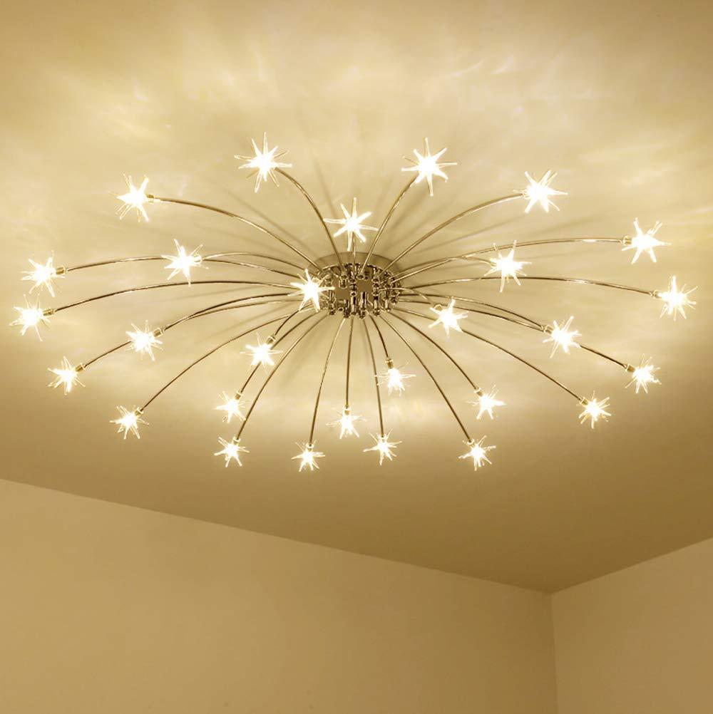 LED Deckenleuchte Modern Deckenlampe Acryl Stern Styling Lampeschirm Metall Deckenbeleuchtung Schlafzimmer Lampen Wohnzimmer Leuchte Küche Esszimmer Decorlampe Kronleuchter Innenbeleuchtung G4 Warmes