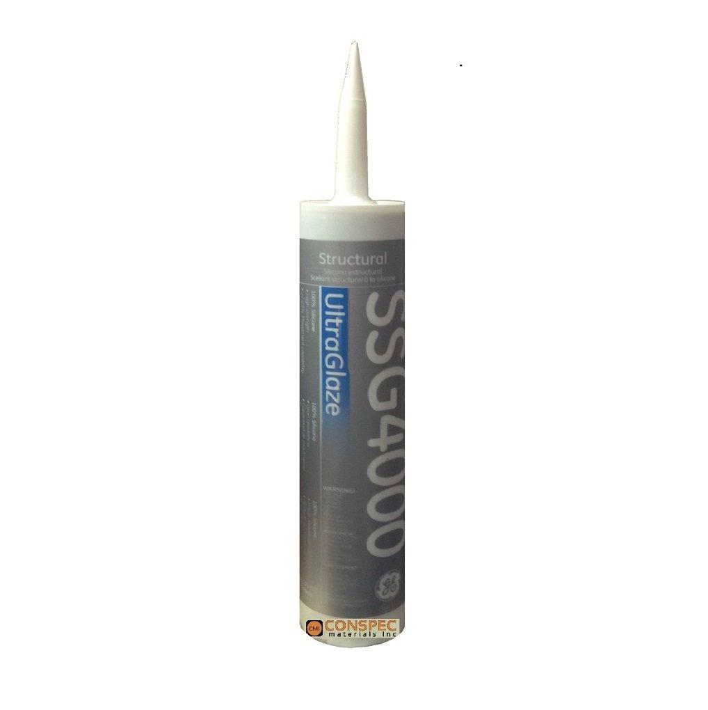 GE SSG 4000 UltraGlaze Structural & Marine Grade Silicone Sealant, 10.1 fl oz Tube (BLACK)