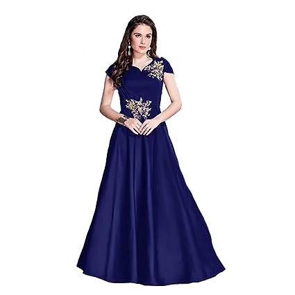 Amazon Com Blue Muslim Silk Gown Pakistani Bridal Party Wedding