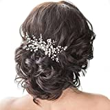 Unicra Wedding Crystal Hair Combs Wedding Bridal Hair Accessories for Brides and Bridesmaids (Silver)