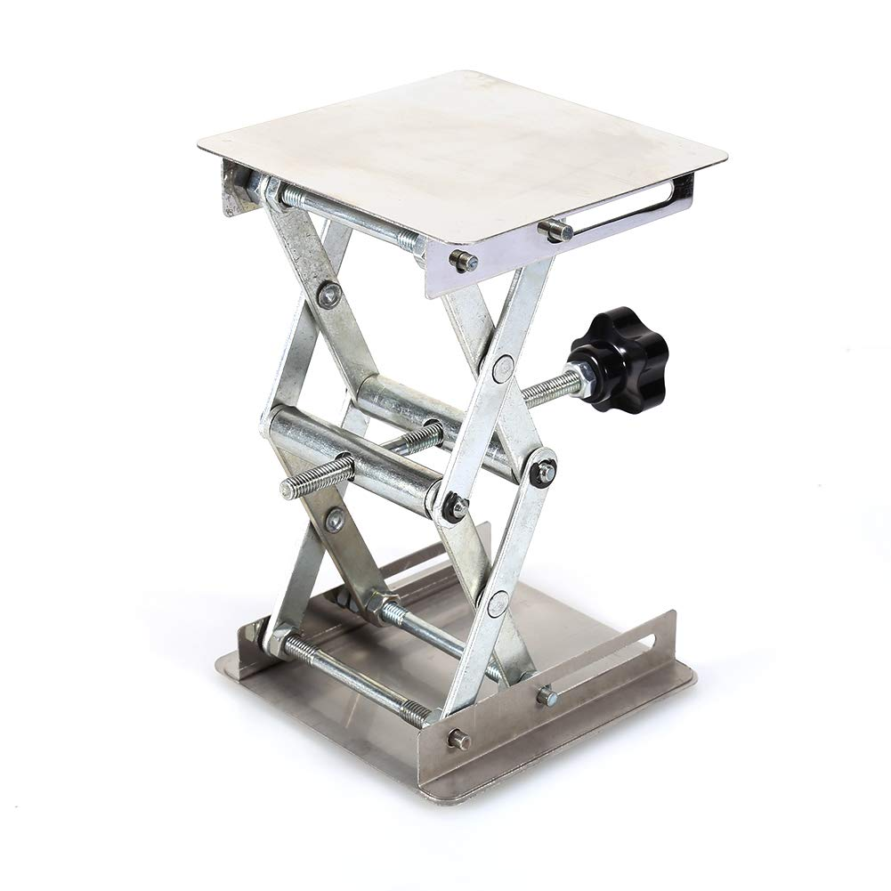 Lab Stand Table Scissor Lift,Stainless Steel Laboratory Lifting Platform Stand Scissor Rack Jack Lab-Lift for Height Adjustment Scientific Lab 100X100mm by Jectse (Image #5)
