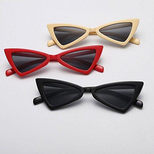 Femme Aolvo Pair Soleil De 4 Sunglass grey Red Lunette 2 qUqOR1ntx