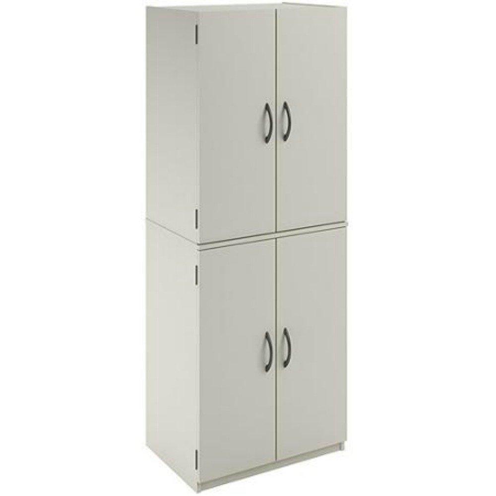 Mainstays Tall Storage Cabinet, 4 Door, (White)