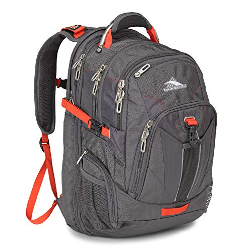 High Sierra XBT TSA Laptop Backpack, Mercury/Crimson