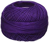 Handy Hands Lizbeth Premium Cotton Thread, Size 40, Purple Dark