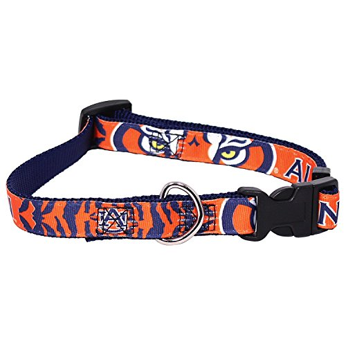 Auburn Tigers Dog Pet Collar Adjustable Premium Nylon All Sizes (Small)