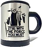 Yoda Self Stirring 12oz Mug - Stir With The Force you Must (Perfect Gift)