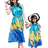 Unique Summer Outdoor Beach Family Dress Set for Mother and Daughter