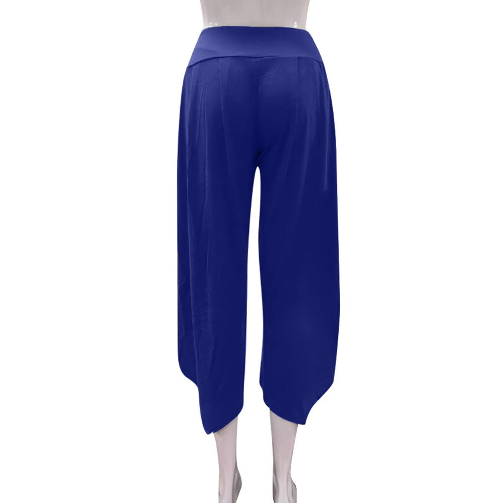TIMEMEANS New Women Casual PrettyLayered Wide Leg Pants Ladies Outdoor Home Daily Flowy High Waist Pants by TIMEMEANS (Image #5)