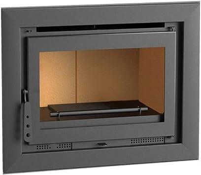 Chimenea Insertable leña 70 cm. Mod. I-170. Interior Vermiculita y ...