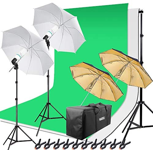 Pro Fotostudio Set Softbox Studioleuchte Studiosets Hintergrundsystem Dauerlicht