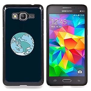"""Qstar Arte & diseño plástico duro Fundas Cover Cubre Hard Case Cover para Samsung Galaxy Grand Prime G530H / DS (Órbita de la Tierra de la historieta"""")"""