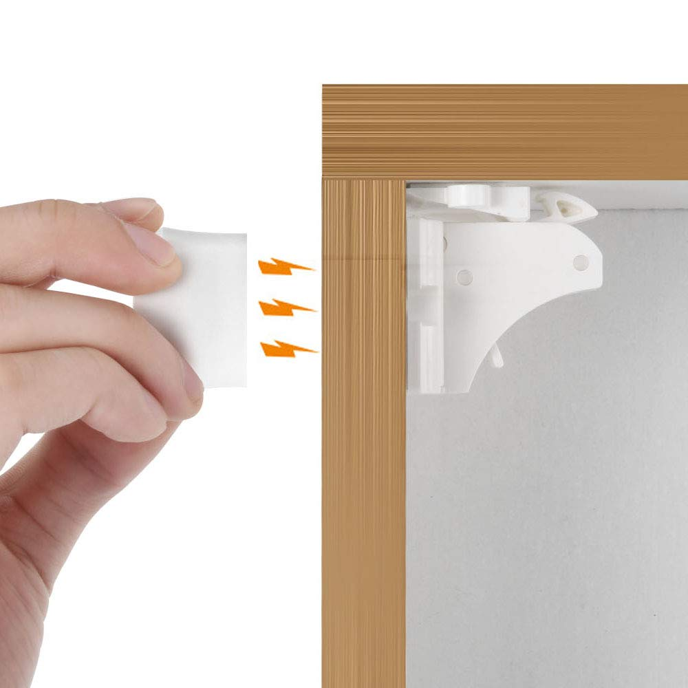 VMAISI Child Magnetic Cabinet Lock - Baby Proofing Cabinets Self Sticking 3M Adhesive for Cabinets & Drawers with Magnet Cabinet Locks Child Safety