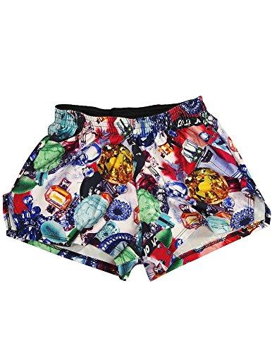 Zara Terez - Big Girls' Bejeweled Gym Shorts, Multi 34043-14 -