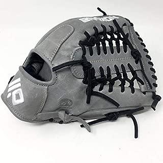 product image for Nokona AmericanKip 14U Gray with Black Laces 11.25 Baseball Glove Mod Trap Web Right Hand Throw