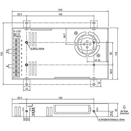 Alimentazione 320W 15V 21,4A ; MeanWell RSP-320-15