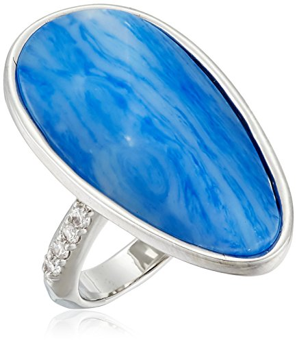 Faceted Blue Glass Ring (Kenneth Cole New York