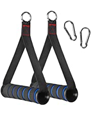 RENRANRING Resistance Bands Handles with Screw Thread, Comfortable Ultra Heavy Duty Foam Grips with Solid ABS Cores, Durable Big Carabiners for Exercise Bands Workout(1 Pair)