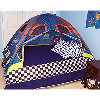 Pacific Play Tents 19710 Kids Rad Racer Bed Tent Playhouse - Twin Size: Toys & Games