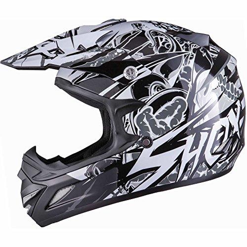 Shox MX-1 Scream Motocross MX Enduro Helm XL Schwarz/Grau