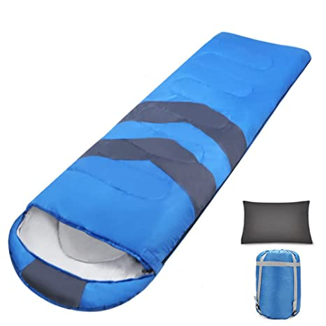 HM&DX Verano Saco de Dormir Camping Adultos Envoltura 3 Temporadas Portátil Ultraligero Bolsa de Dormir con