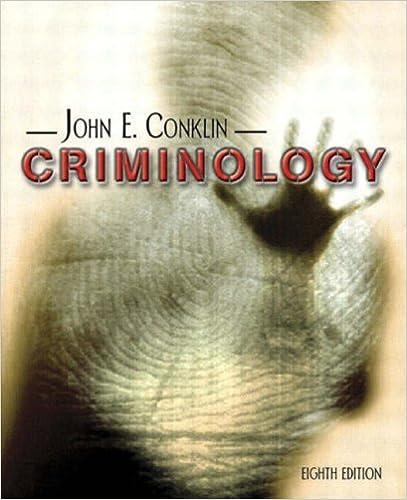 Criminology Eighth Edition John E Conklin 9780205381777