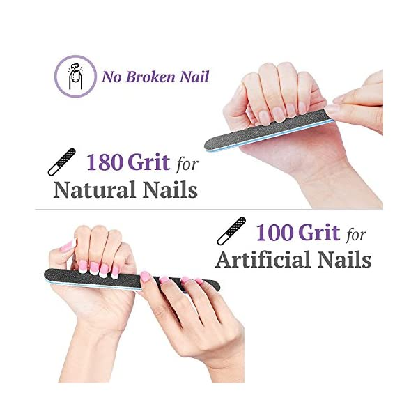 Nail Files and Buffer, TsMADDTs Professional Manicure Tools Kit Rectangular Art Care Buffer Block Tools 100/180 Grit…