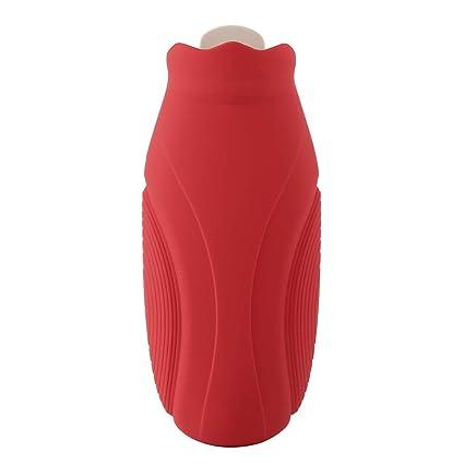 Aurorao - Botella de agua caliente de silicona con funda para el ...