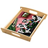 Home of Dalmatian 4 Dogs Playing Poker Wood Serving Tray