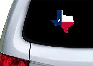 "Texas Flag Sticker Car Decal Bumper Sticker Lone Star State Truck Window (5"" Medium)"
