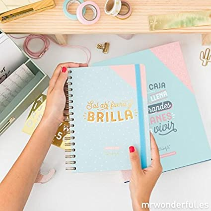 Mr. Wonderful WOA08859ES - Agenda 2018, semana vista, diseño Sal ...