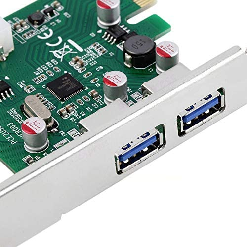 2-Port SuperSpeed USB 3.0 PCI Express x1 Controller Card Add Two USB 3.0 Ports to Your PC!