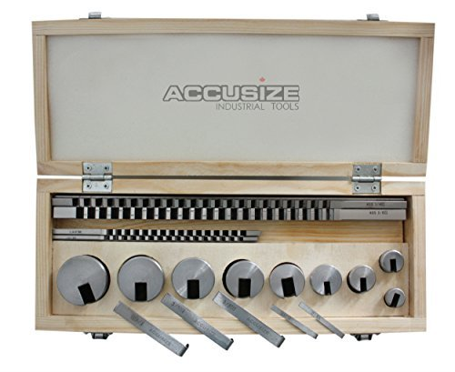 Accusize - No.10 18 ps/set HSS Keyway Broach Sets in Fitted Box, #5100-0010