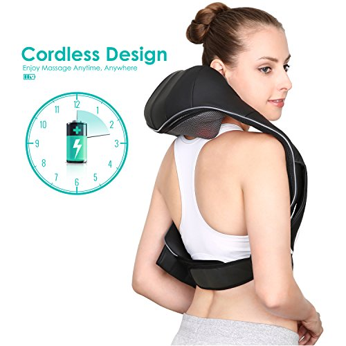 Naipo Shoulder Massager Cordless Massager for Neck and Ba...