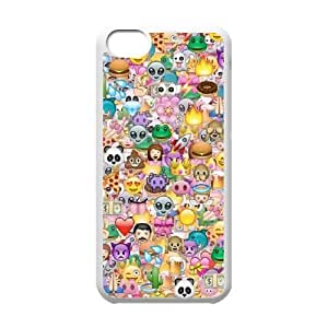 Iphone 5C 2D Customized Phone Back Case with Funny Emoji Image