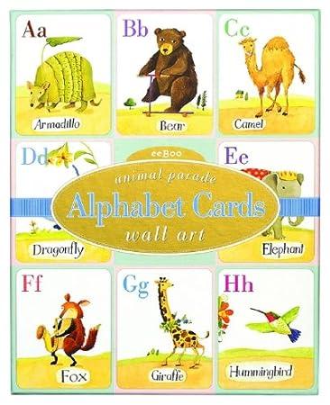 Nice Alphabet Cards: Animal Parade Wall Art Part 30