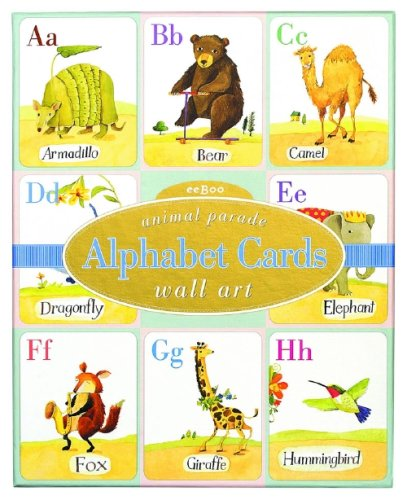 Amazon.com: Alphabet Cards: Animal Parade Wall Art: Toys & Games