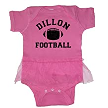 We Match! Unisex Baby - Dillon Football Baby Bodysuit (19 Colors Available)