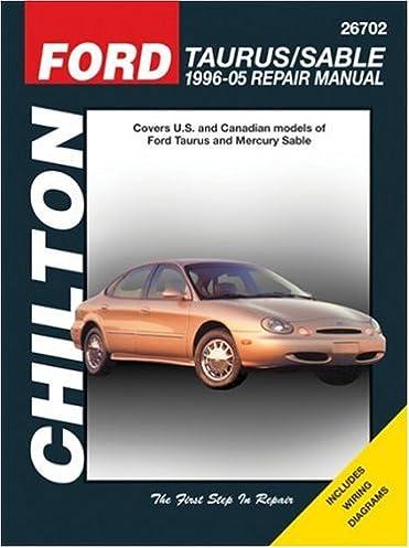 ford taurus sable 1996 05 repair manual chilton total car care rh amazon com 2001 Taurus ManualDownload 2001 Taurus Engine Diagram